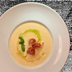 NEW! Суп-пюре із цвітної капусти з панчетою та італійськими хлібцями
